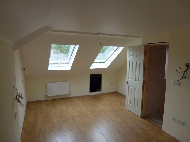 Northern heights Loft Conversion Room Close to Finished